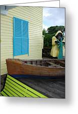 The Gordons Fisherman House Greeting Card