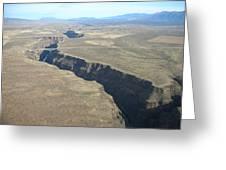 The Gorge Bridge In Taos Greeting Card