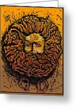 The Gorgon Man Celtic Snake Head Greeting Card