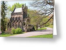 The Gothic Temple In Spring Grove Cemetery Greeting Card