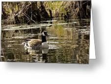 The Graceful Goose Greeting Card