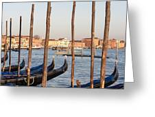The Grand Canal And The Gondolas Of Venice  Greeting Card