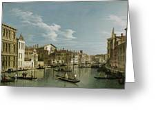 The Grand Canal In Venice From Palazzo Flangini To Campo San Marcuola Greeting Card