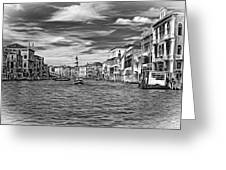 The Grand Canal - Paint Bw Greeting Card