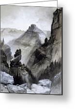 The Grand Canyon Drawing            Greeting Card