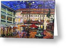 The Grand Dame's Courtyard Cafe  Greeting Card