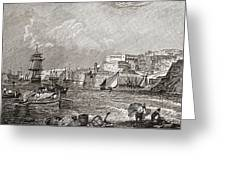 The Grand Harbour, Valetta, Malta After Greeting Card