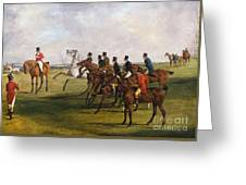 The Grand Leicestershire Steeplechase, March 12, 1829  The Start Greeting Card