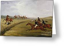 The Grand Leicestershire Steeplechase, March 12th, 1829 Greeting Card