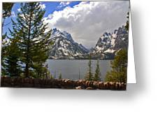 The Grand Tetons And The Lake Greeting Card