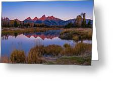 The Grand Tetons From Schwabacher's Landing Greeting Card