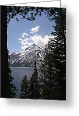 The Grand Tetons Lake Greeting Card