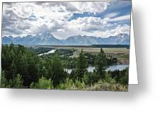 The Grand Tetons Greeting Card by Margaret Pitcher