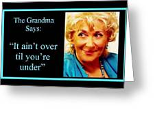 The Grandma Over And Under Greeting Card