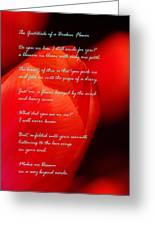 The Gratitude Of A Broken Flower  Greeting Card
