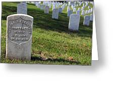 The Grave Of Martha B. Ellingsen In Arlington's Nurses Section Greeting Card