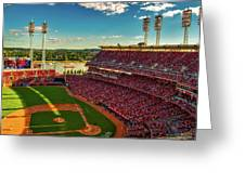 The Great American Ball Park - Cincinnati Greeting Card