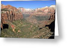 The Great Canyon Of Zion Greeting Card