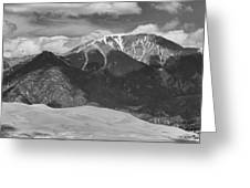 The Great Colorado Sand Dunes  125 Black And White Greeting Card