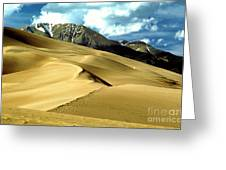 The Great Colorado Sand Dunes Color Print Greeting Card