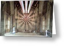 The Great Hall, Winchester Castle, Hampshire Zoom Burst Greeting Card