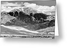 The Great Sand Dune Valley Bw Greeting Card