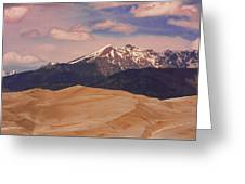 The Great Sand Dunes And Sangre De Cristo Mountains Greeting Card