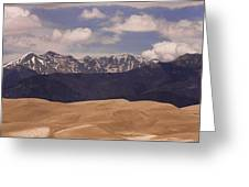 The Great Sand Dunes Panorama 1 Greeting Card