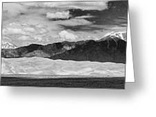 The Great Sand Dunes Panorama 2 Greeting Card