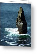 The Great Sea Stack Brananmore Cliffs Of Moher Ireland Greeting Card