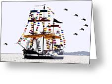 The Great Ship Gasparilla Greeting Card