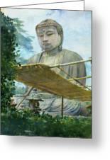 The Great Statue Of Amida Buddha At Kamakura Greeting Card