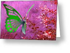 The Green Butterfly Greeting Card