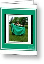 The Green Dress Greeting Card