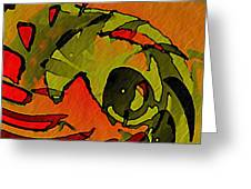The Green Iguana Greeting Card