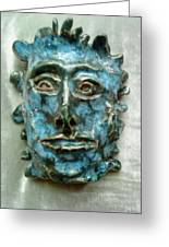 The Green Man Greeting Card by Paula Maybery