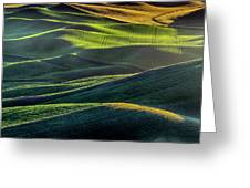 The Green Waves Of Palouse Wa Dsc05032  Greeting Card