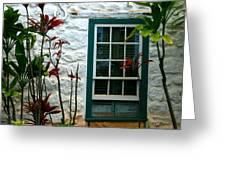 The Green Window Greeting Card
