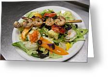 The Grilled Shrimp Salad Greeting Card