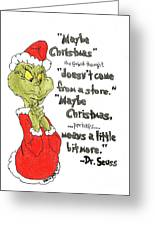The Grinch Christmas Quote Drawing By Scott D Van Osdol