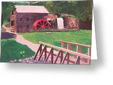 The Gristmill At Wayside Inn Greeting Card by William Demboski