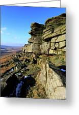 The Gritstone Rock Formations On Stanage Edge Greeting Card