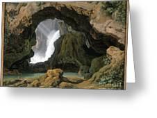 The Grotto Of Neptune In Tivoli Greeting Card