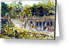 The Grotto Steps Greeting Card