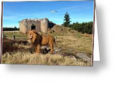The Guard Of The Ruins 22 Greeting Card