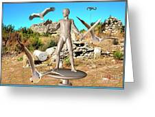 The Guardian Of The Ruins 1 Greeting Card