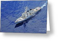 the guided-missile destroyer USS Okane Greeting Card