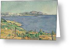 The Gulf Of Marseilles Seen From L'estaque Greeting Card