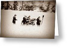 The Guns Of Gettysburg Greeting Card