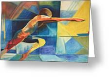 The Gymnast  Greeting Card